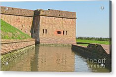 Fort Pulaski Moat System Acrylic Print by D Wallace