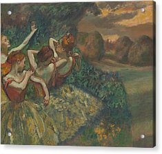 Four Dancers Acrylic Print by Edgar Degas