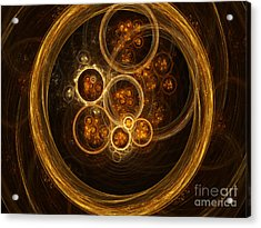 Fractal Flames Acrylic Print by Scott Camazine