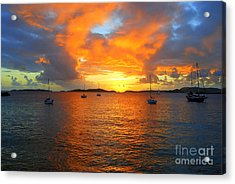 Frank Bay St. John U. S. Virgin Islands Sunset Acrylic Print