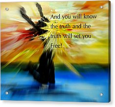 Freedom And Truth Acrylic Print by Amanda Dinan