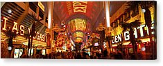 Fremont Street Experience Las Vegas Nv Acrylic Print by Panoramic Images