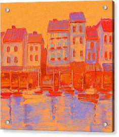 French Harbor Acrylic Print
