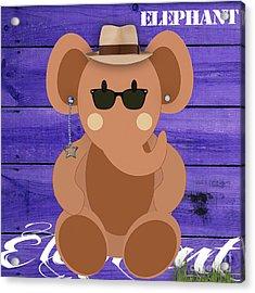 Friendly Elephant Art Acrylic Print by Marvin Blaine