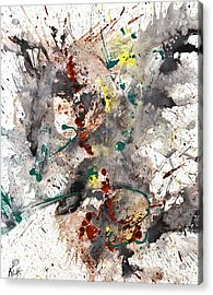 Acrylic Print featuring the painting From The Chaotic Mess Series - 1260.112212 by Kris Haas