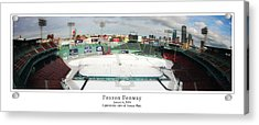Frozen Fenway Acrylic Print by Kristopher Ventresco