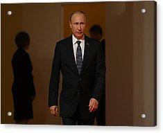 G20 Nations Hold Hamburg Summit Acrylic Print by Sean Gallup