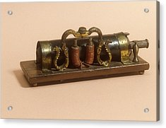 Galvanic Coil Acrylic Print by Science Photo Library