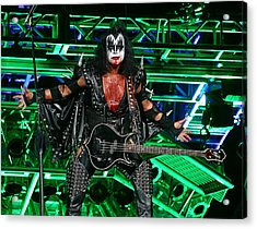 Acrylic Print featuring the photograph Gene Simmons - Kiss by Don Olea