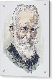 George Bernard Shaw (1856-1950) Acrylic Print by Granger