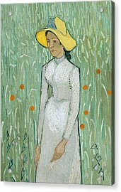 Girl In White Acrylic Print by Vincent van Gogh