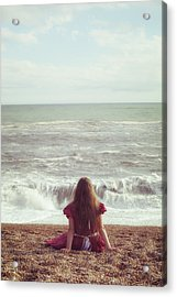 Girl On Beach Acrylic Print by Joana Kruse