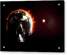 Global Destruction Acrylic Print by Animate4.com/science Photo Libary