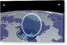Global Fresh Water Volume Acrylic Print by Adam Nieman