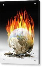Global Warming Acrylic Print by Detlev Van Ravenswaay