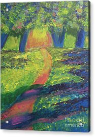 Acrylic Print featuring the painting Glowing Path by Diana Riukas