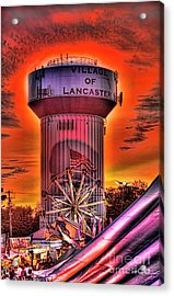 Glowing Water Tower Acrylic Print