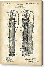 Golf Bag Patent 1905 - Vintage Acrylic Print