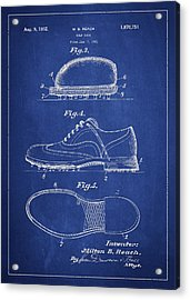Golf Shoe Patent Drawing From 1931 Acrylic Print