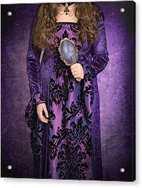 Gothic Woman Acrylic Print by Amanda Elwell