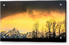 Acrylic Print featuring the photograph Grand Tetons Wyoming by Amanda Stadther