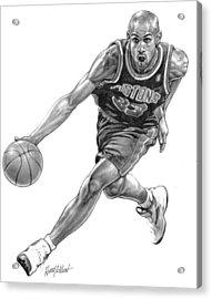 Grant Hill Acrylic Print by Harry West