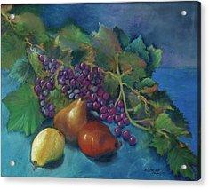 Grapes And Pears Acrylic Print by Antonia Citrino