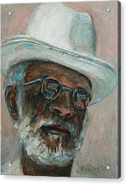 Gray Beard Under White Hat Acrylic Print