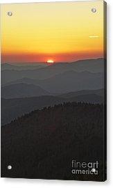 Great Smokie Mountains National Park Sunset Acrylic Print