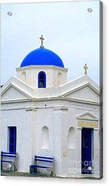 Greek Orthodox Church Acrylic Print by Sarah Christian