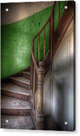 Green Stairs Acrylic Print