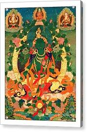 Green Tara 9 Acrylic Print by Lanjee Chee