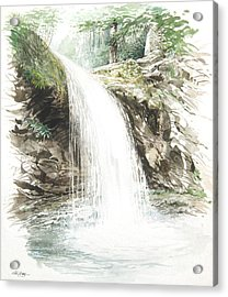 Acrylic Print featuring the painting Grotto Falls by Bob  George
