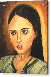 Gypsy Girl Acrylic Print by Constantinos Charalampopoulos