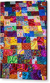 Hand Made Quilt Acrylic Print by Sherman Perry