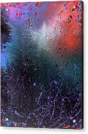 Acrylic Print featuring the painting Happiness by Min Zou