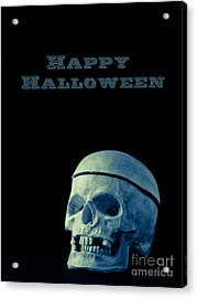 Happy Halloween Card 2 Acrylic Print by Edward Fielding