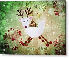 Happy Holidays Acrylic Print by Rebecca Cozart