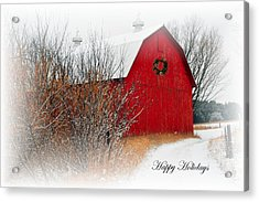 Happy Holidays Acrylic Print by Terri Gostola