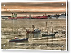 Acrylic Print featuring the photograph Harbor Morning by Richard Bean