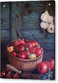 Acrylic Print featuring the painting Harvest Time by Megan Walsh