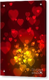 Hearts Background Acrylic Print by Carlos Caetano