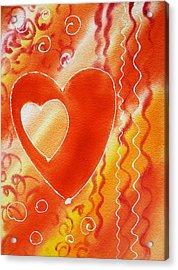 Hearts For Valentine Acrylic Print