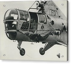 Helicopter Rescue - Royal Navy Adopts New Apparatus Acrylic Print by Retro Images Archive