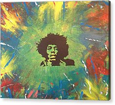 Acrylic Print featuring the painting Hendrix by Scott Wilmot