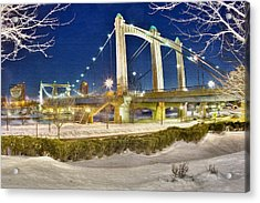Hennepin Avenue Bridge Acrylic Print by Jason Alexander