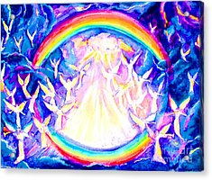 Angels Blowing Trumpets Acrylic Print