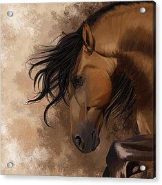 Hidden Sadness Acrylic Print by Kate Black