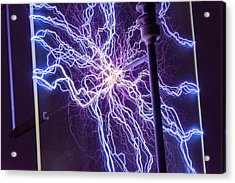 High Voltage Electrical Discharge Acrylic Print by David Parker