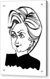 Hillary Clinton Acrylic Print by Tom Bachtell